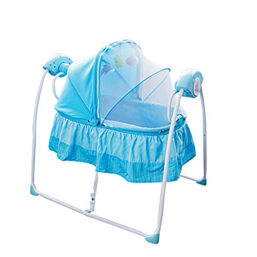 Best Deals! Jiu Si- Electric Cradle Electric Shaker Multifunctional Baby Shaker Rocking Chair Baby B...