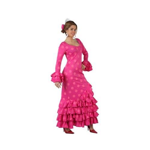 Atosa-97163 Disfraz Flamenca Color rosa M-L (97163