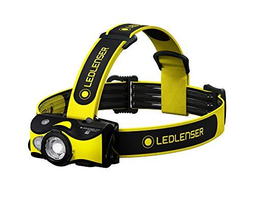 Ledlenser IH9R - Linterna frontal LED profesional de alta potencia, pilas alcalinas recargables o AA, LED multicolor, funciones rojo/verde/azul, 600 lúmenes