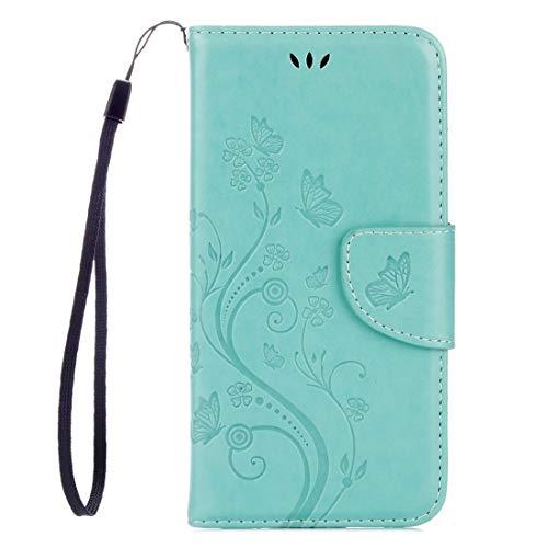 Nuevo for Lenovo Vibe K5 Butterflies Love Flowers Gofrado Horizontal Flip Funda de cuero con soporte y ranuras for tarjetas y billetera y cordón (negro) Shiningxie (Color : Green)
