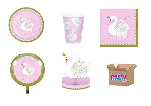 Party Store Web by Casa Sweet Home tafeldecoratie voor kinderen, 8 borden, 8 bekers, 16 servetten, 1 tafelloper, 1 folieball)