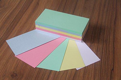 'die Dicken' Moderationskarten Rechteck 10x20cm sortiert 180 g/qm Inh. 250 Stück Rechtecke