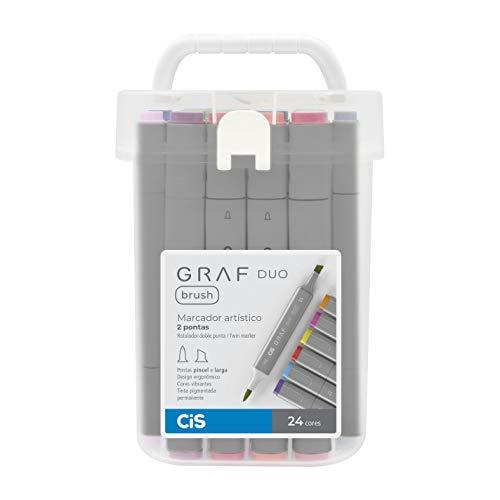 Marcador Artístico 2 Pontas, CiS, Graf Duo Brush, 60.9100, 24 Cores