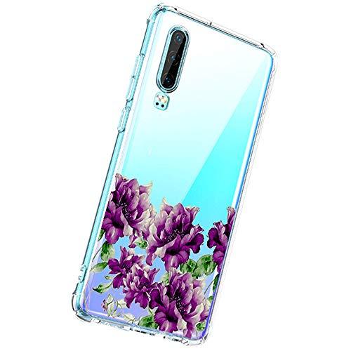 20-Danie Liquid Crystal Kompatibel mit Huawei P30 Hülle -[Kratzfest] Schutzhülle Transparent TPU Silikon Handyhülle Durchsichtige Huawei P30, Crystal Clear-5