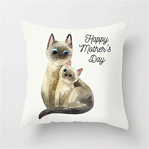 LIFUQING Animal Painting Cushion Cover Dog Cat Panda Tiger Fox Pillow Cover Home Sofa Chair Decorative PillowCushion cover 17.7 x 17.7 inches
