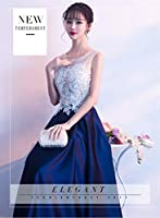 ドレス パーティードレス ウェディングドレス カラードレス ステージドレス Aライン マーメイド レディース aruka_loubet XXL ネイビー