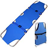 XR Emergency Rescue Flat Foldaway Portable Stretcher with Two Steel Bars,for Hospital,Clinic, Home,Sports venues,Ambulance Weight Capacity 350 lb (Aluminum Alloy)