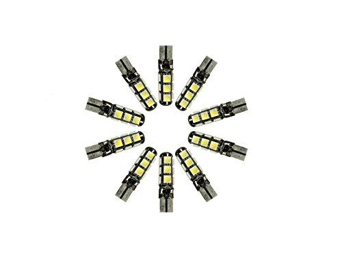 NJYTouch Lot de 10 ampoules LED Canbus T10 5050 13SMD 194 W5W 192 168 Blanc froid