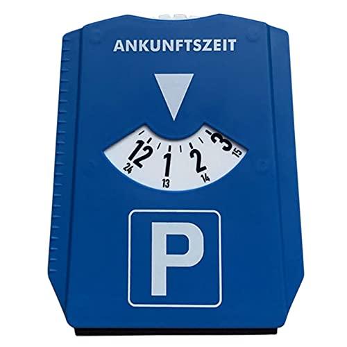 PEKLOKIW Disco de aparcamiento para coche con chip para carro de la compra y medidor de perfil de neumáticos, disco de aparcamiento con raspador de hielo para coche y moto