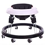 Andador para Bebés con 4 Frenos Anti-Vuelco Ajustable con Cinturón De...