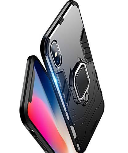 Funda iPhone Xs Max, Diseño Panther híbrido Armadura