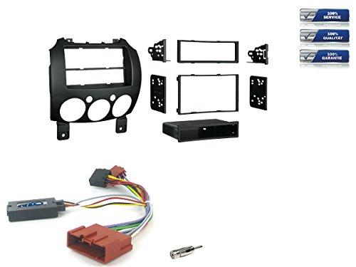 NIQ Mazda 2 Radio Einbauset inkl. LFB Bj. 10/2007-2014 *Schwarz* Doppel-DIN