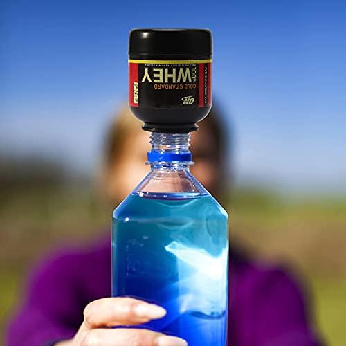 OhhGo Imbuto per proteine Integratore portatile Contenitore per polvere Imbuto per bottiglia d'acqua con portachiavi