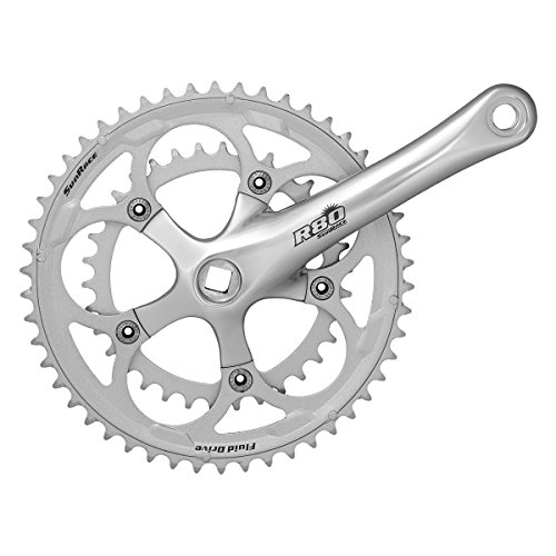 SunRace Guarnitura Vintage retrò Doppia 34/50 x 170mm Silver (Guarniture Strada) / Crankset Vintage retrò Double 34/50 x 170mm Silver (Road Cranksets)