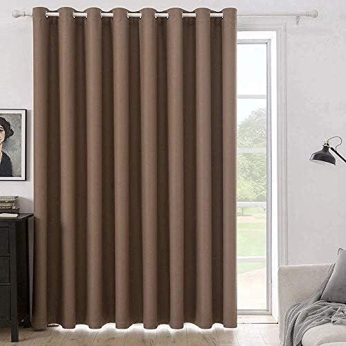 MIULEE Mocha Blackout Curtain for Living Room Sliding Glass Door Vertical Blind for Room Darkening product image