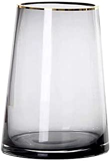 光の高級ガラス花瓶ゴールデンストロークガラス花瓶、ホームシンプルなリビングルームフラワーアレンジメント装飾花瓶、オフィスの結婚式、ス