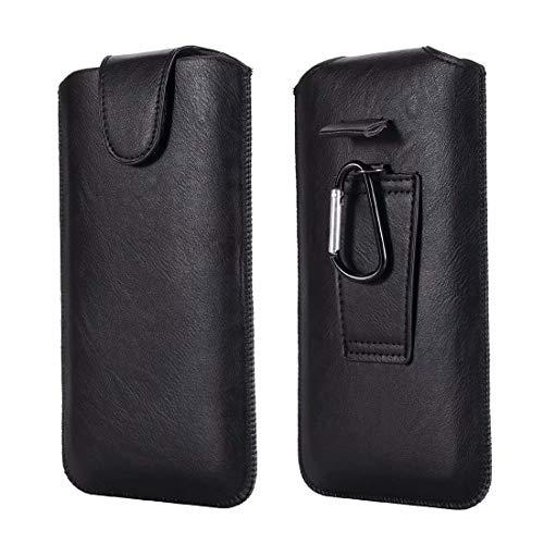 SZCINSEN Funda universal para cinturón para hombre con mosquetón para iPhone11 Pro/8/X/SamSung S6/s7/s10E/6G/7G/8G/6s (color negro)