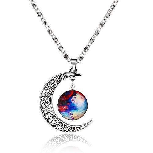 Collar Tipos Caliente Fantasy Space Planet Moon Collar Largo Mujeres, Cool Time Gem Collares Pendientes para Mujeres Joyas Sin Cuello Aliexpress Nq38