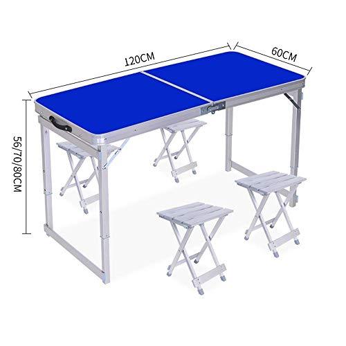 N/Z Daily Equipment Aluminum Alloy Folding Table Stall Outdoor Folding Table Household...