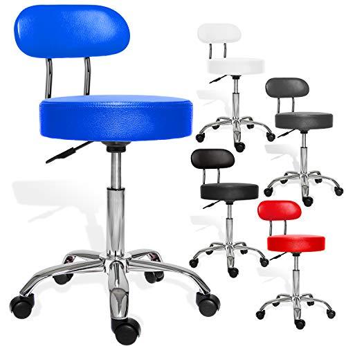 Drehstuhl Blau Office Collection Komfort-Drehhocker MH-B Durchmesser: 460 mm h/öhenverstellbar Rollhocker bequeme Polsterung Hocker