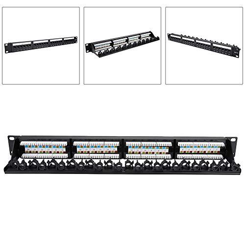 AMONIDA 【】 Panel de conexión de Cable CAT6 montable, Panel de conexión...