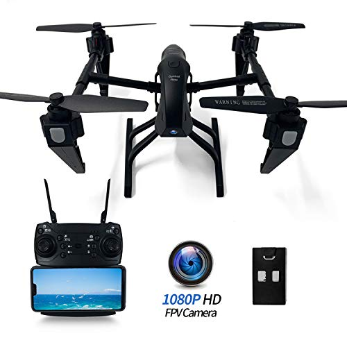 FPV Drone with Camera Live Video 1080P HD for Adults Beginners, 4K RC Quadcopter Drone Alloy 2.4G WiFi App-Controlled, Altitude Hold, Headless Mode, Gravity Control, Long Flight Time 25 Mins