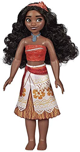 Disney Princess Moana of Oceania Fashion Doll with Skirt That Sparkles, Headband, & Necklace, Toy for 3 Year Olds & Up