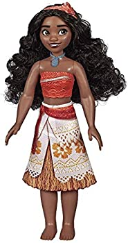 Disney Princess Moana of Oceania Fashion Doll with Skirt That Sparkles Headband & Necklace Toy for 3 Year Olds & Up