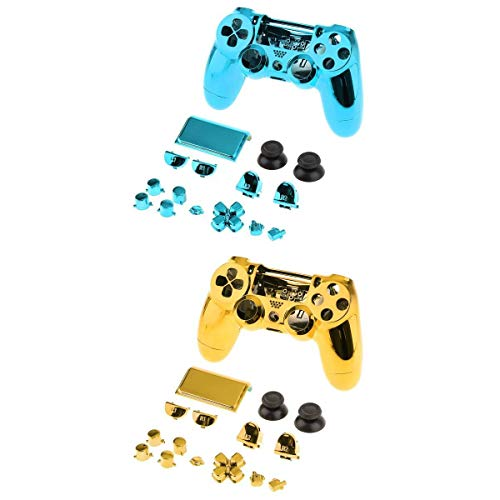 kesoto Coque Complète Skin Shell Set Pour Sony PS4 Pro Controller Bouton 2 Kit