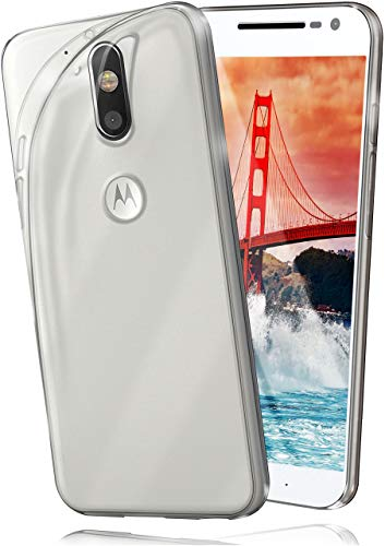 moex Aero Hülle kompatibel mit Moto G4 Play - Hülle aus Silikon, komplett transparent, Klarsicht Handy Schutzhülle Ultra dünn, Handyhülle durchsichtig einfarbig, Klar