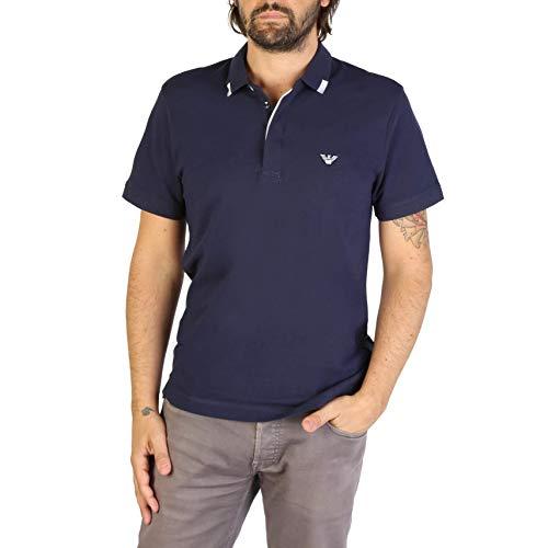 Emporio Armani Underwear Herren Mens Knit Polo S/SLE Poloshirt, Blau (Blu Navy 06935), Large (Herstellergröße: L)
