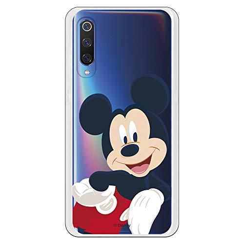 Funda para Xiaomi Mi 9 Oficial de Clásicos Disney Mickey Classic Transparente para Proteger tu móvil. Carcasa para Xiaomi de Silicona Flexible...
