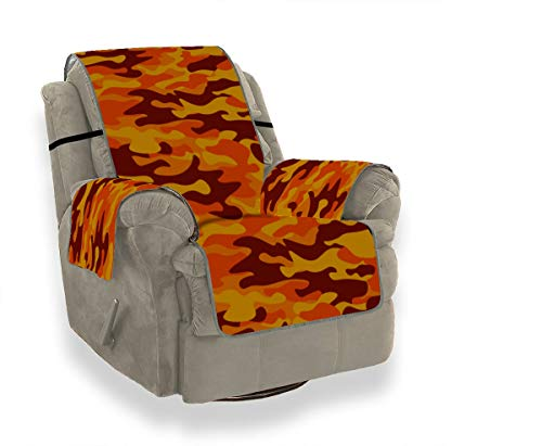 XINLU Classic Clothing Masking Camo Seational Recliner Sofa Cover Sitting Chair Slipcover Sofa Glider Cushions for 21' Sofa Protect from Kids Dogs and Pets