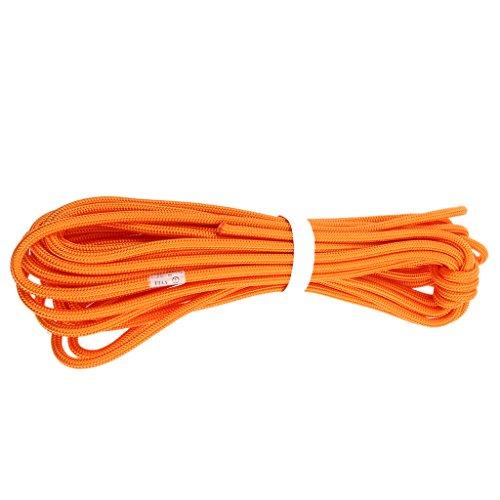MagiDeal Professionnel Escalade Corde de Sécurité de Survie Corde Auxiliaire Randonnée - Orange, 30m