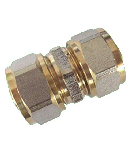EXCOLO Fittings Verbundrohr (20mm x 20mm) PEX-AL Alu Verbundrohr Verbinder Klemmring Schraubfitting 20 mm Verschraubung