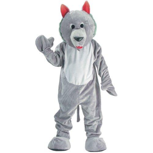 Dress Up America Costume de mascotte de loup affamé pour les enfants, 301-L, 12-14 ans (taille: 86-96, hauteur: 127-145 cm)