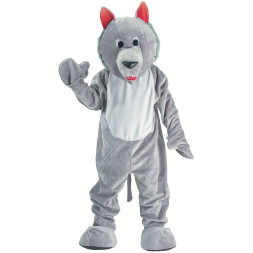 Dress up America Disfraz de Mascotaa de Lobo Hambriento para nios