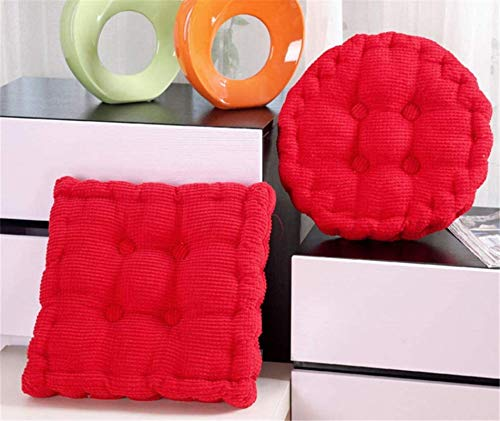 YNGH Seat cushion Corn velvet seat for indoor and outdoor use Thick padding purple 45X45X9cm,Red,40X40X9cm