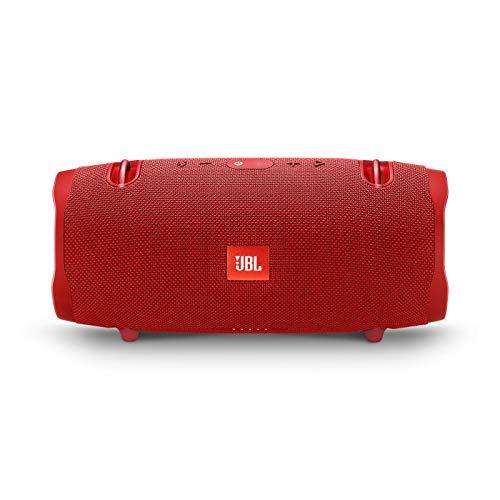 JBL Xtreme 2 - Altavoz BT portátil resistente al agua (IPX7) con manos libres y radiador de bajos JBL, JBL Connect+, batería 15h, rojo