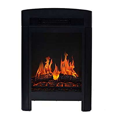 CDBGR Stove Heater Flame Effect Electric Fireplace Freestanding Portable Wood Burner Log Burning Fire Fireplace 1400W