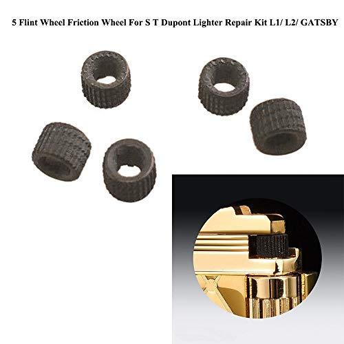 GAOHOU 5 Stück Flint Wheel Reibrad für S T Dupont Feuerzeug L1 / L2 / GATSBY Reparatursatz
