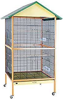 Foldable Metal Bird cage for Budgies , Zebra Finches ,Java ,Cocktail, Conures with Stand ,Wheel with 4cups, Perch and Tray...