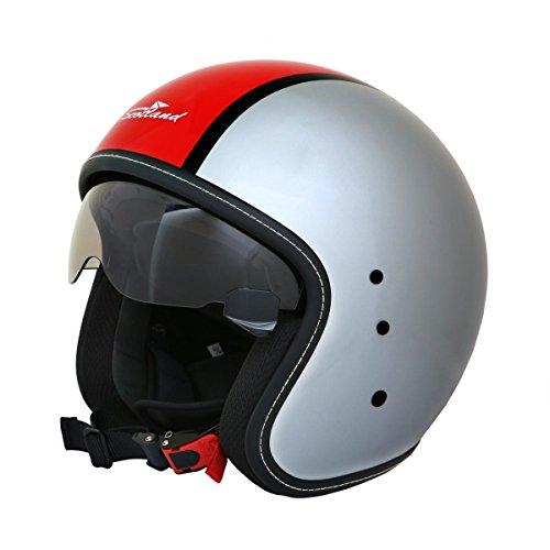 Scotland - Casco para moto L rojo