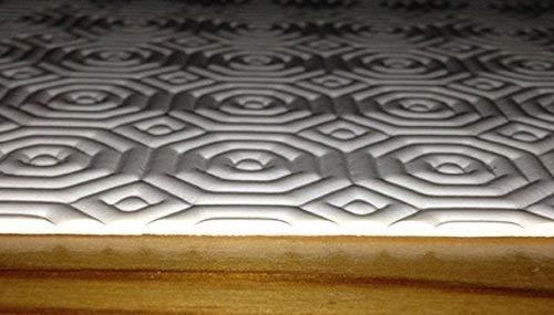KEVKUS Tischschoner RUND Größe frei wählbar (nur rund) Tischunterlage Tischpolster Molton (105 cm rund)