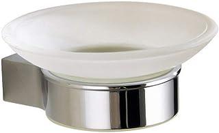 Simple Chrome-Plated Scrub soap Dish Holder Single Dish soap Box Bathroom Products Soap Saver Box Case for Bathroom