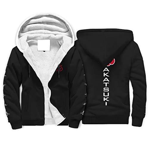 Naruto Akatsuki - Sudadera con capucha para hombre, transpirable, con cremallera, bolsillos laterales para la vida diaria, color blanco