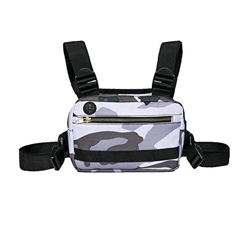 Leisuretime Sport-Brusttasche, tragbar, für Laufen, Handy, verstellbar, Brustgeschirr, Outdoor, verstellbare Brusttasche, Reißverschluss-Tasche für Männer und Frauen, Laufen, Wandern