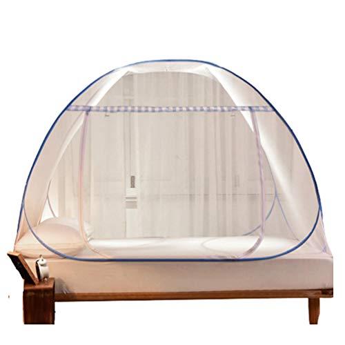 Pop Up Moskitonetz für Doppelbett, feinmaschig Portable Zelt Travel Doppeltür Reißverschluss Bettnetz, einfache Installation für Schlafzimmer Outdoor Camping Travel Home