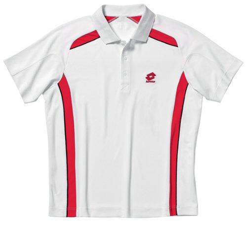 Lotto - Tennis-Poloshirts für Mädchen in weiss/rot