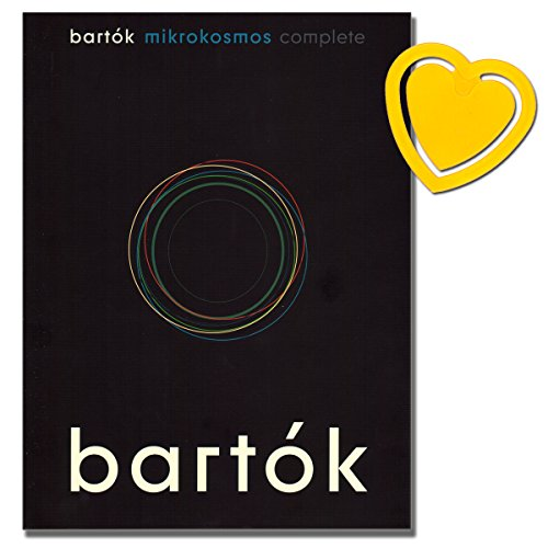 Mikrokosmos Complete - progressive cycle of 153 studies for Piano - Béla Bartók - [ Noten / Sheetmusic ] - mit bunter herzförmiger Notenklammer